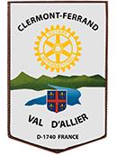 fanion Rotary Club de Clermont Val d'Allier